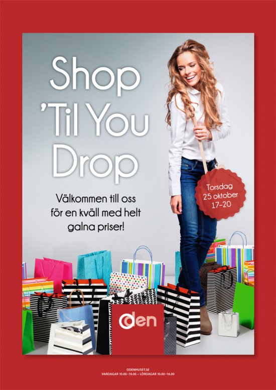 Shop 'Til You Drop Torsdagen den 25 oktober 17-20